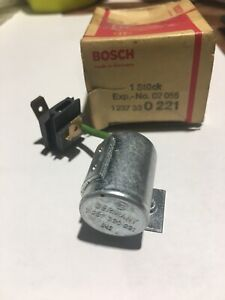 Volvo 164E Condenser Bosch P/N 1 237 33 0 221 NOS