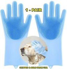 Pet Grooming Gloves, Multipurpose Silicone Cleaning Gloves for Pet Dogs Cats