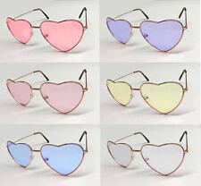 Heart Shape Glasses Sunglasses Shades 60s 70s Hippy Lennon Fancy Dress Festival