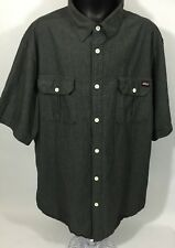 Genuine Dickies Men's Shirt - Black Color Short Sleeves Button Front - Size 2XL