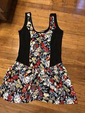 MINKPINK Black Singlet with Floral Skater Dress SIZE M