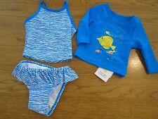 BNWT baby girl 3 piece UV protect swim set. M&S. RRP £14. 0-3 months   1/7