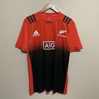 New Zealand All Blacks Adidas 2017 Rugby Training Shirt Jersey Mens Large