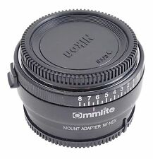 Commlite Nikon F mount G Lens To Sony NEX E adapter aperture