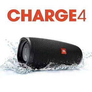 JBL Charge 4 Bluetooth BLACK Speaker Waterproof Rechargeable Portable Wireless