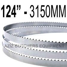 "Butchers Meat Bandsaw Blades (5 Pack). 124"" (3150mm) X 5/8"" X 4tpi"