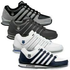 K-Swiss Mens Rinzler Trainers New Leather Tennis Sneakers Lace Up Court Shoes