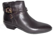 New JONES NEW YORK WHITLEY BLACK LEATHER ANKLE BELTED BOOTS 7 M