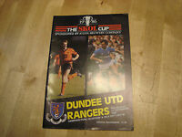 Dundee United v Rangers 1987 Scottish League Cup Semi Final