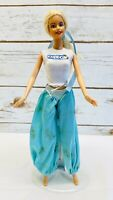 "MATTEL BARBIE Doll Blonde Hair Blue Eyes Two Piece Outfit 12"" Tall Free Shipping"