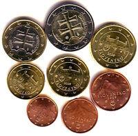 Slovakia 2009 - Set of 8 Euro Coins (UNC)  *RARE*