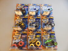 Hot Wheels 1:64 Monster Jam Assortment of 9 Monster Jam Trucks - Team Flag Lot