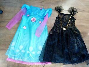 Girls Age 7-8 Trolls & Witch/Dark Fairy Dressing Up Bundle