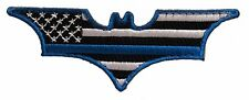 Thin Blue Line Batman Morale Patch Hook & Loop Gear Bag Tac Vest Police