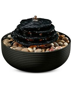 Mirra Zen Tabletop Relaxation Fountain Natural Water Sounds