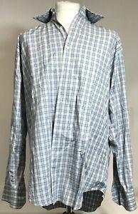 Equilibrio Men's Button Up Shirt Grey Color Size XL