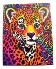 """Lisa Frank 2 POCKET PORTFOLIO FOLDER - HUNTER Leopard  - 9.5"""" x 12""""- School"""