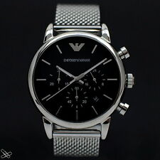 Emporio Armani Herrenuhr Chronograph AR1811 Milanaise Armband
