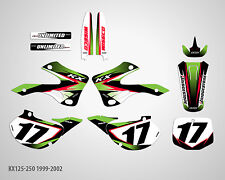 MX Graphics Stickers Kit Decals Kawasaki KX 125 KX125 KX 250 KX250 1999-2002