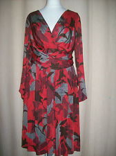 ZARA FLORAL PRINT  V NECK KNEE LENGTH DRESS  SIZE L  UK 12-14