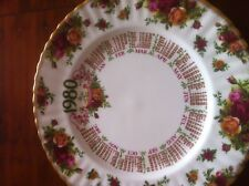Royal Albert, Old Country Roses, Calender plate. First Edition.