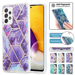 For Samsung A12 A32 A52 A72 A21S A42 S21 S20 Ultra Case Marble Shockproof Cover