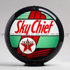 "Gas Pump Globe Texaco Sky Chief 13.5"" w/ Black Plastic Body (G196)"