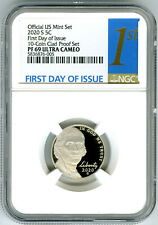 2020 S JEFFERSON PROOF NGC PF69 UCAM FIRST DAY ISSUE 5 CENT 1ST LABEL - RARE