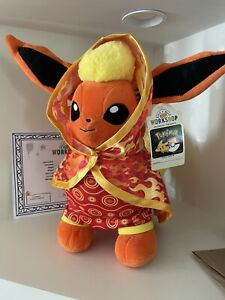 Build A Bear Flareon Pokemon with Cape   Sleeper, With Sound!