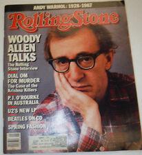 Rolling Stone Magazine Woody Allen & Beatles April 1987 022315r