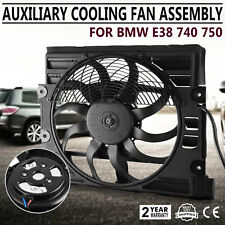 For BMW 7Series 740i 750i E38 740iL Condenser Cooling Fan Assembly