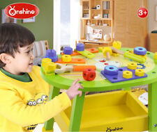 Kids Boys Wooden Tools Workbench Toy Set Pretend Play Educational Toy