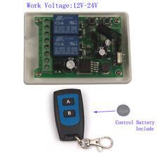 Interruptor de control remoto inalámbrico 2CH 12 V 24V-48V 10 A Relé 2 Transmisor Receptor +