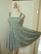 LIBERTY LONDON floral print  sun dress uk 10