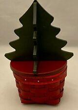 Longaberger 2013 Holiday Helper Christmas Tree Basket Combo~Red/Green~NEW~RARE