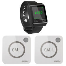 SINGCALL Wireless  Calling System for Restaurant 1 Watch, 2 Touchable Pagers