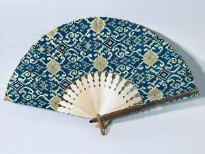 5 x personal fans, (handmade) various fabric designs (random pick)