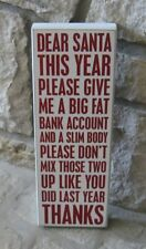 Humor Christmas Diet Wood Box SIGN*Primitive/French Country/Home/Office Decor