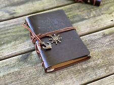 Vintage Classic Retro Leather Dark Coffee Journal Travel Notepad Notebook Diary