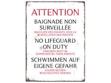 WANDSCHILD Blechschild POOL * ROST * Schwimmbad Swimmingpool Hinweisschild