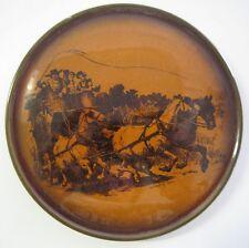 Ridgeway RIDGWAYS England Tea Tile TRIVET Horses Scenes of Coaching Days Ways