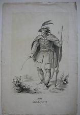 Zaltan Zoltan ungar Großfürst Ungarn Orig Lithografie Kriehuber Schwind 1829