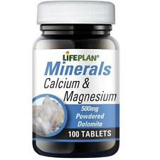 Lifeplan Calcium & Magnesium 500mg 100 tablets