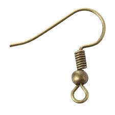 50X Pair Metal Earrings Hook 0.5mm Bronze Color V7H5