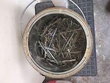 25 Antique 3 inch, square cut nails