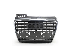 Grille Front Grey/Chrome For Audi A4 B7 2005-2007