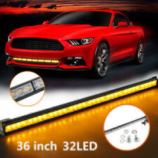 "35.5"" 32 Amber LED Light Emergency Traffic Advisor Bar Flash Strobe Warm"