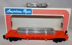 American Flyer 6-48505 Illinois Central Gulf Flat Car W/Bulkheads ICG S gauge