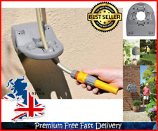 Universal Hose Guide Wall Mounted Flat or Corner Rewind Wheel Outdoor Gardening