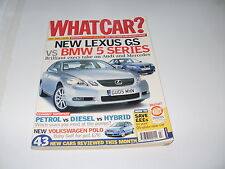 WHAT CAR ?   MAGAZINE  JULY     2005       ENGLISH MONTHLY